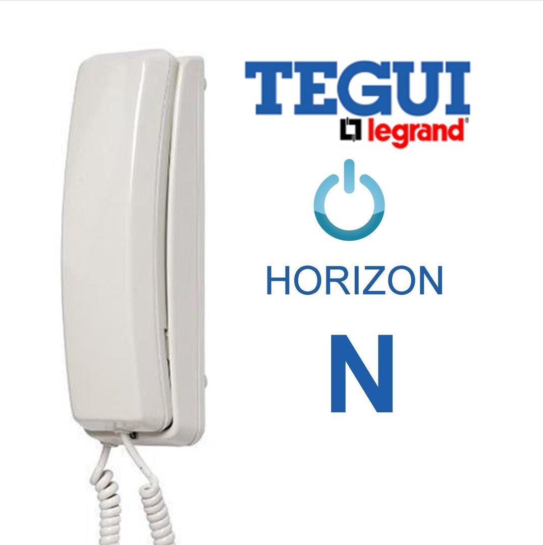 Tel fono horizon n blanco tegui 0e7010 - Telefono portero automatico ...