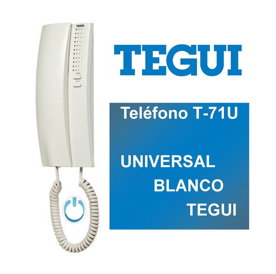 Tel fono t 71u universal blanco tegui 374240 for Videoportero tegui precio