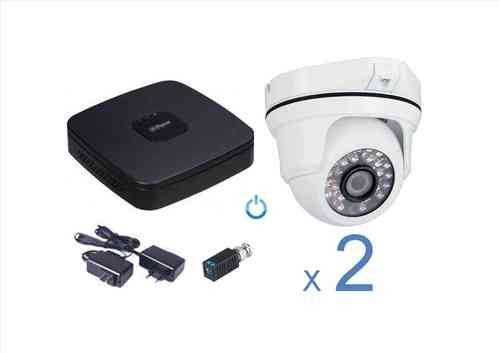 Kit CCTV Video vigilancia analógico 2 cámaras