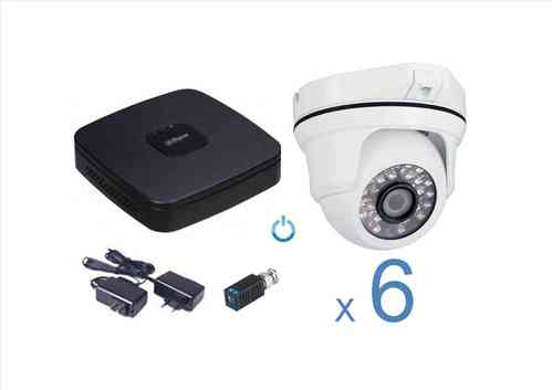 Kit CCTV Video vigilancia analógico 6 cámaras