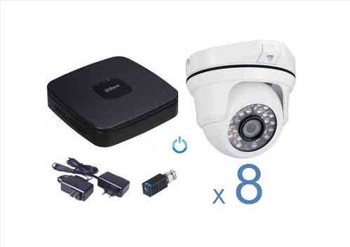 Kit CCTV Video vigilancia analógico 8 cámaras