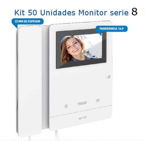 Kit  De  50 Monitores  Tegui Serie 8 video portero
